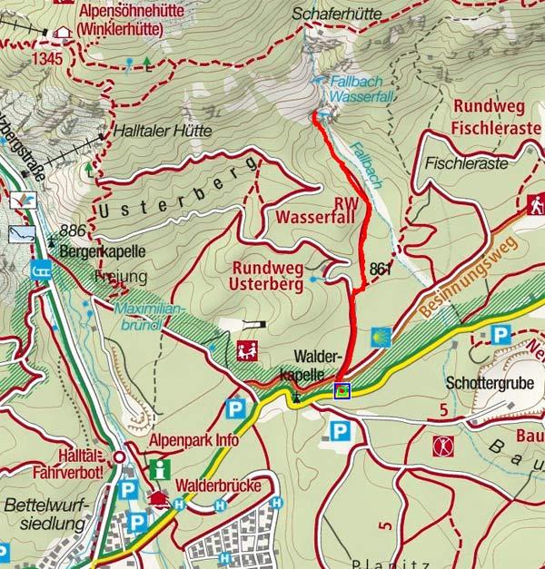 Fallbach-Wasserfall in Gnadenwald