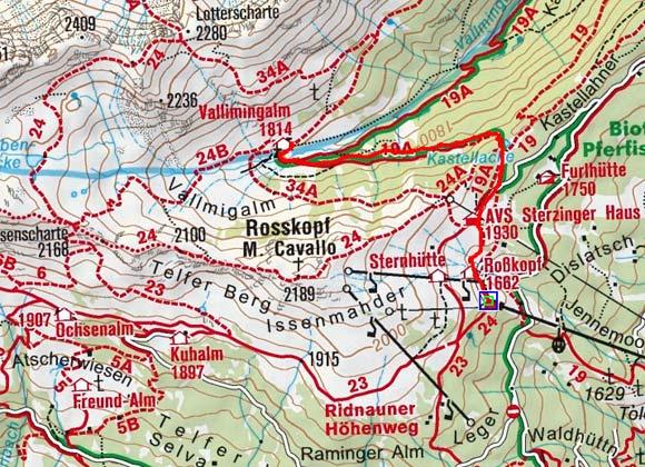 Vallming-Almen von der Roßkopfbahn