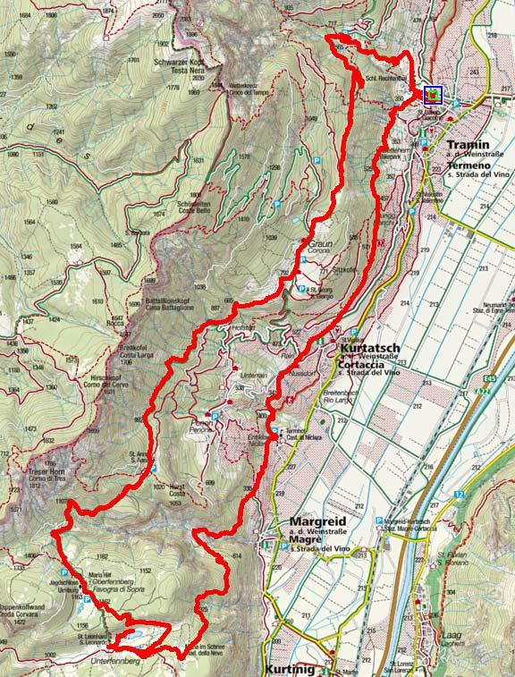 Fennberger-Rundtour von Tramin
