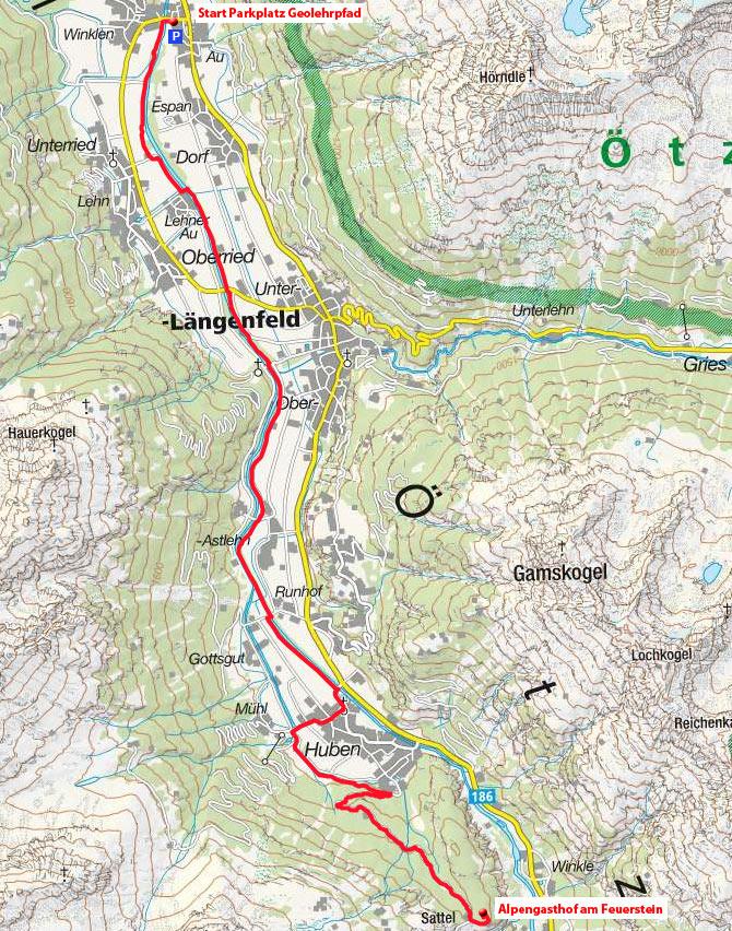 Alpengasthof am Feuerstein vom Ortsteil Au