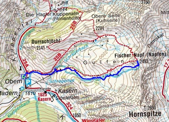Fischers Napf (2493 m) von Kasern