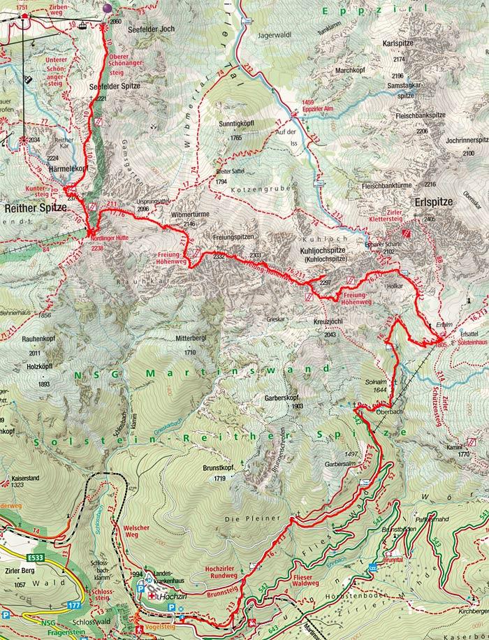 Freiungen-Höhenweg von Seefeld nach Hochzirl