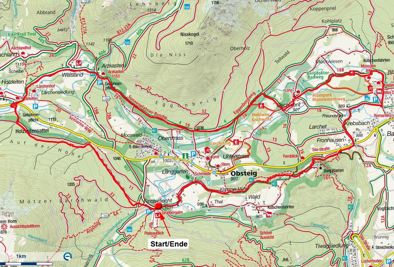 Freundsheim-Arzkasten Rundfahrt am Mieminger Plateau