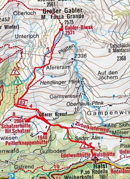 Großer Gabler (2575 m) von der Halslhütte