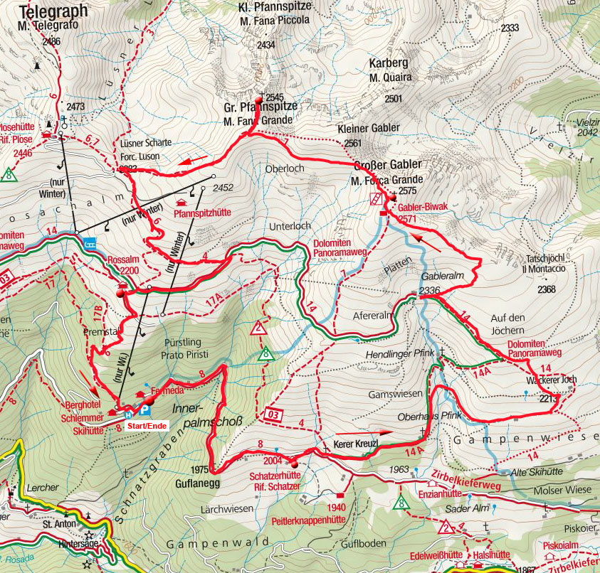 Großer Gabler – Pfannspitze Rundtour von der Skihütte