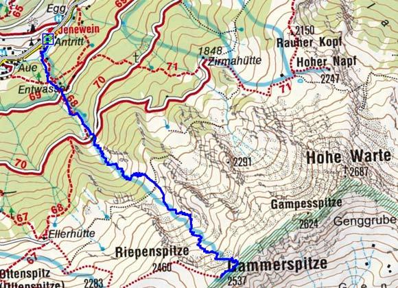Gammerspitze (2537 m) von Schmirn