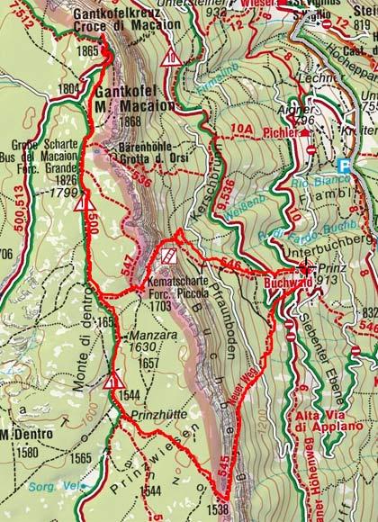 Gantkofel-Monte Macaion (1866 m) von Buchwald