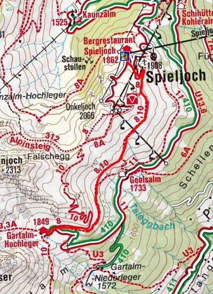 Gartalm von der Bergstation Spieljochbahn
