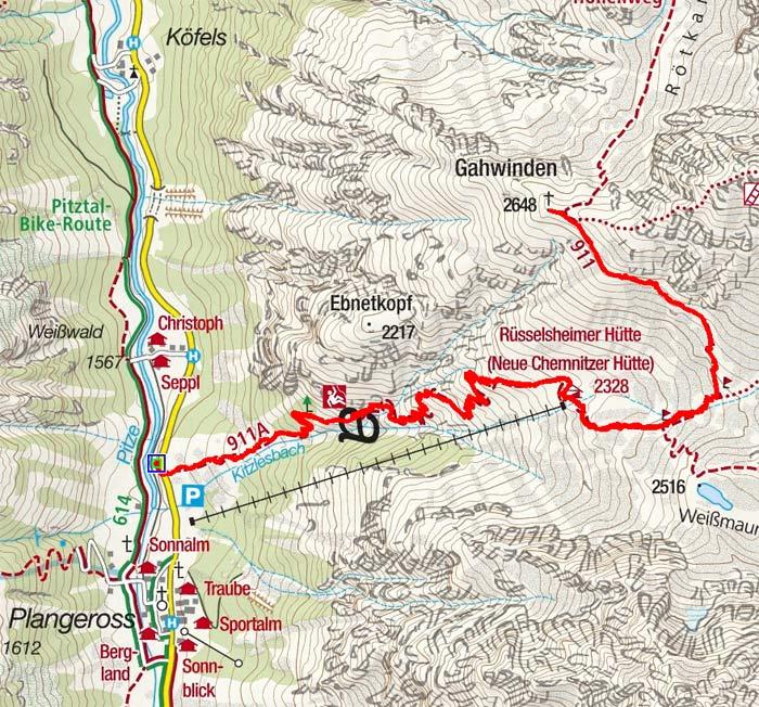 Gahwinden (2649 m) von Plangeross