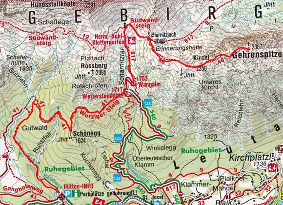 Gehrenspitze (2367 m) aus dem Gaistal