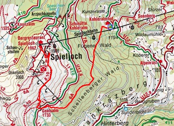 Geolsalm-Spieljoch der Mittelstation Spieljochbahn