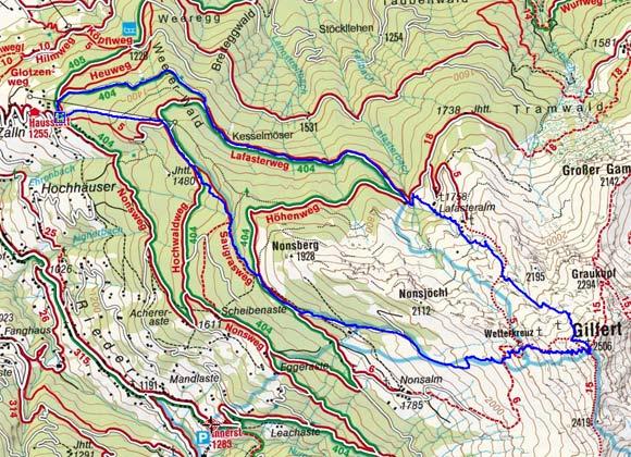 Gilfert (2506 m) von Hausstatt