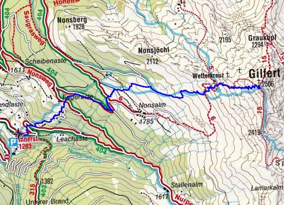 Gilfert (2506 m) von Innerst