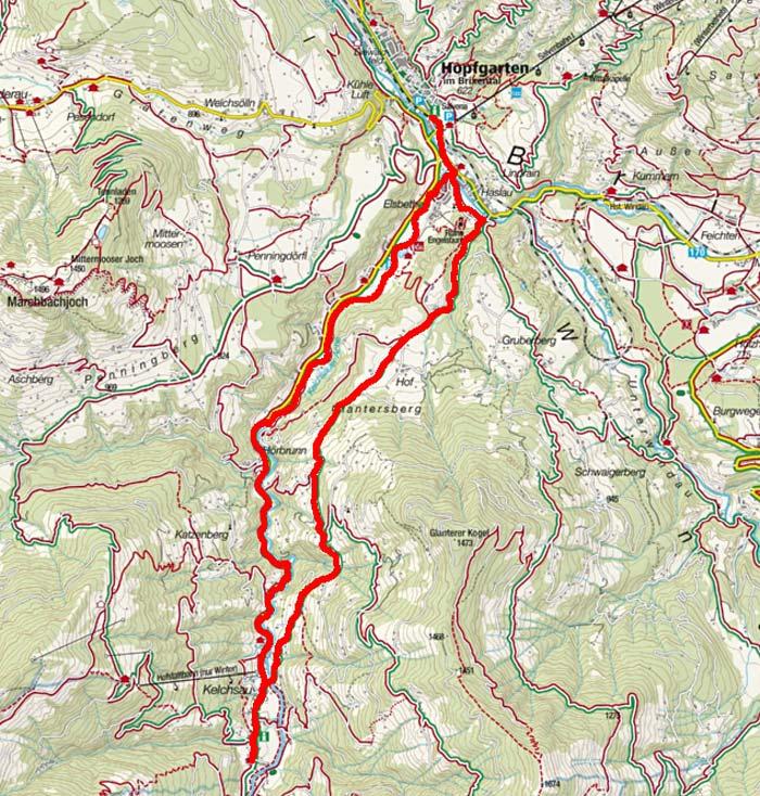 Glantersberg - Kelchsau Runde von Hopfgarten
