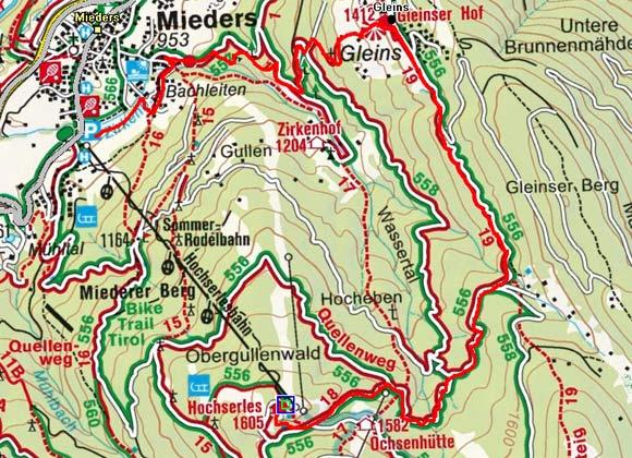 Hochserles - Gleinserhof - Mieders