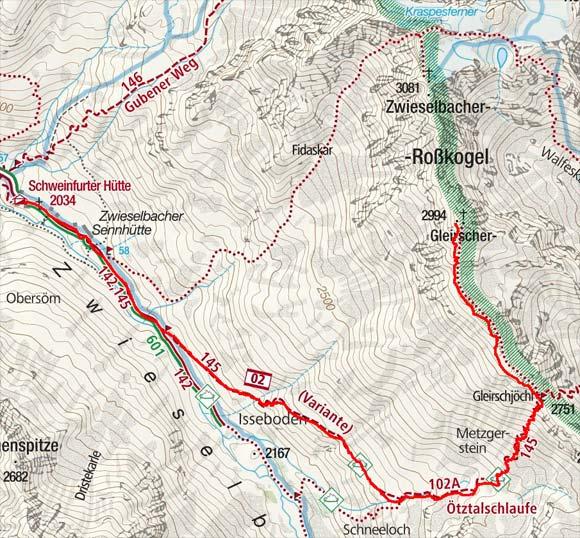Gleirscher Roßkogel (2994 m) von der Schweinfurter Hütte