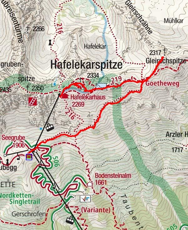 Gleirschspitze & Hafelekarspitze von der Seegrube