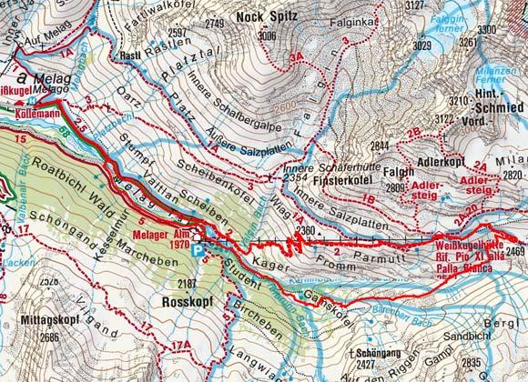 Langtauferer Gletscherlehrpfad - Weißkugelhütte