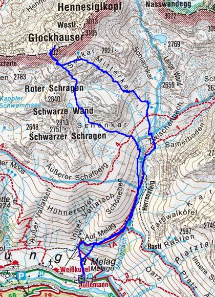 Glockhauser (3021 m) von Melag