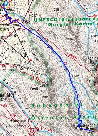 Granatenkogel (3302 m) von Obergurgl