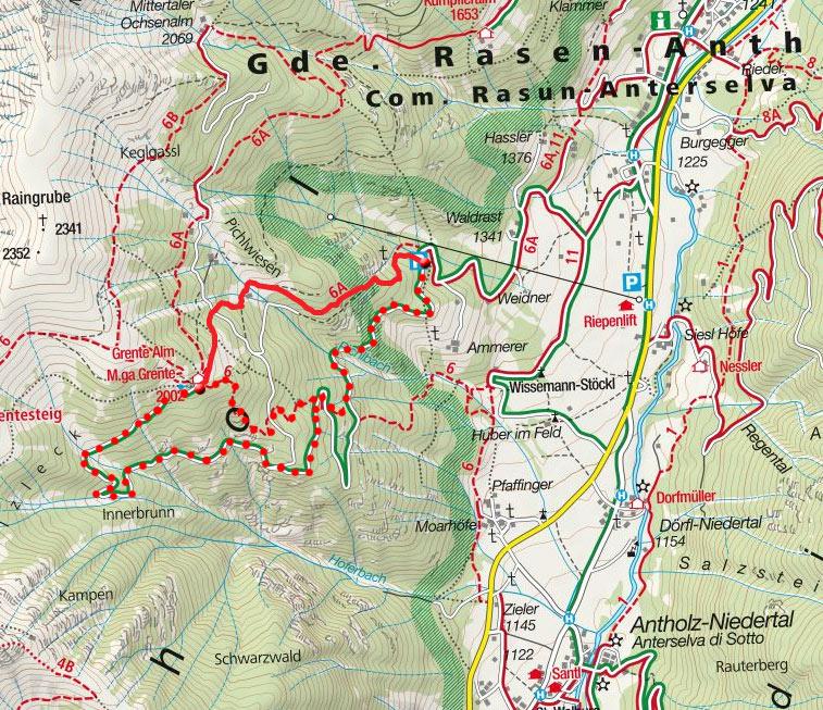 Grente Alm (2002m) aus dem Antholzer Tal