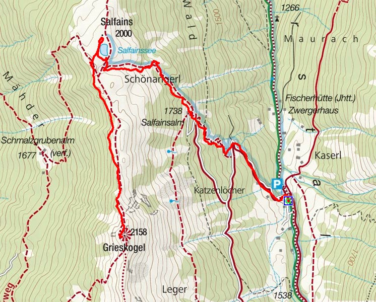 Grieskogel (2158 m) aus dem Senderstal