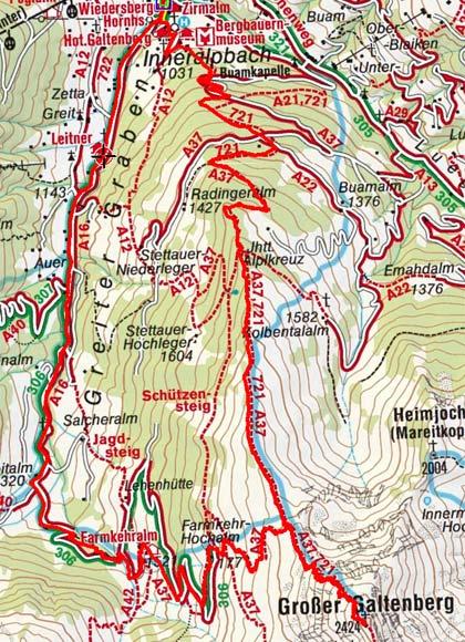 Großer Galtenberg (2424 m) von Inneralpbach