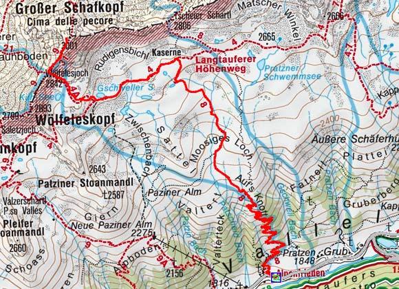 Großer Schafkopf (3001 m) aus dem Langtauferer Tal