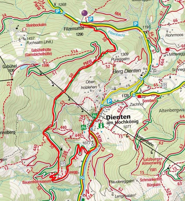 Grünegg Alm (1190 m) vom Filzensattel