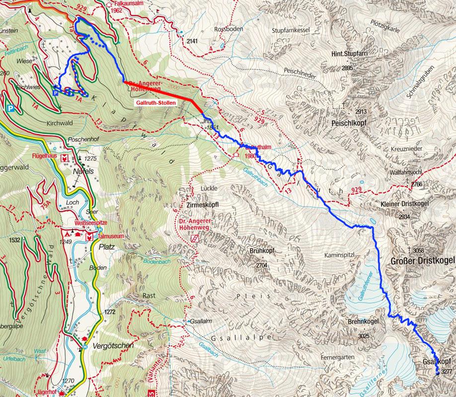 Gsallkopf (3278m) vom Kaunerberg