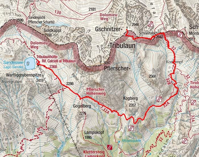 Gschnitzer Tribulaun (2946 m) von der Italienischen Tribulaunhütte