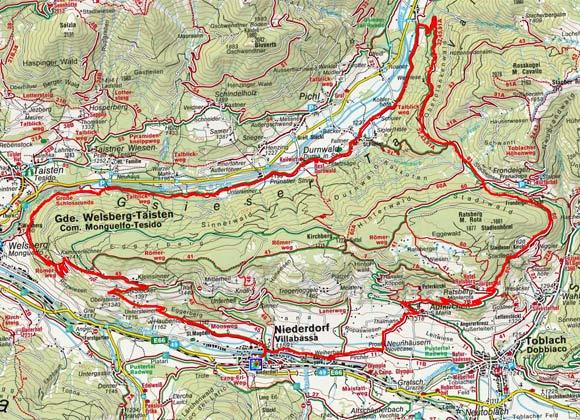 Niederdorf - Gsiesertal Rundtour