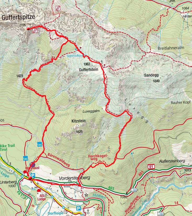 Guffert (2195m) von Steinberg am Rofan