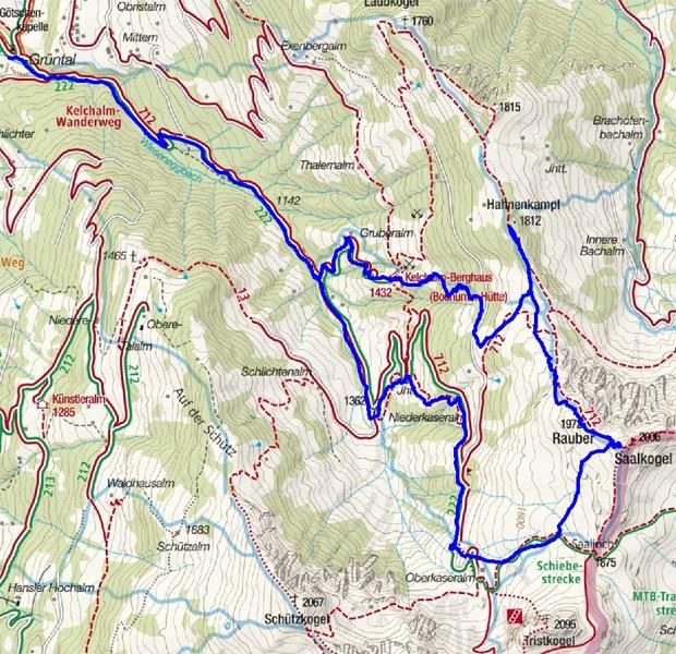 Hahnenkampl - Rauber – Saalkogel Rundtour