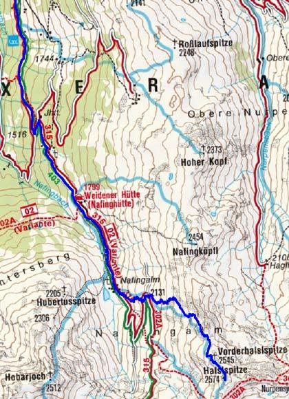 Halslspitze (2574 m) von Innerst