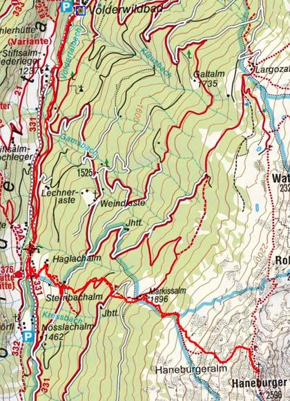 Haneburger (2596 m) vom Volderwildbad