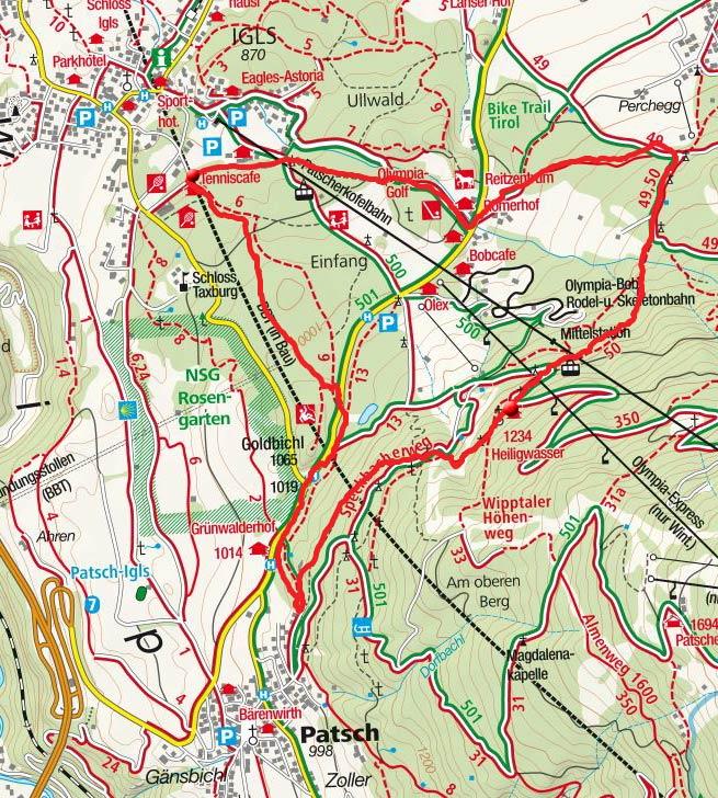 Alpengasthaus Heiligwasser – Steinerne Stiege Runde von Igls