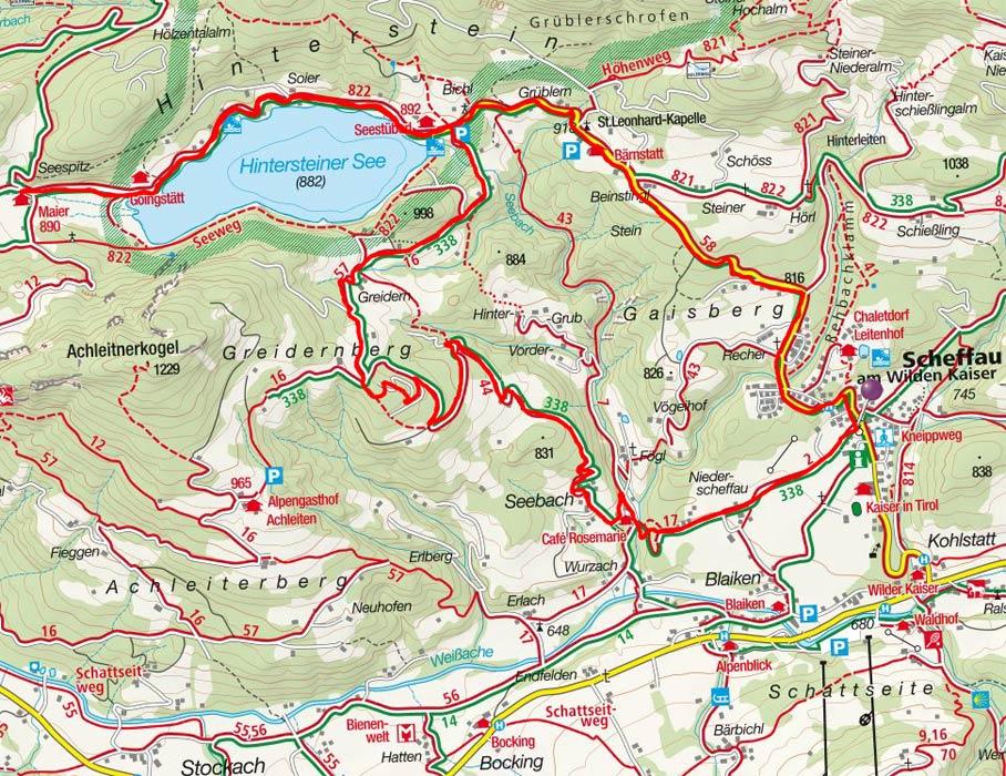 Hintersteiner See Rundfahrt von Scheffau