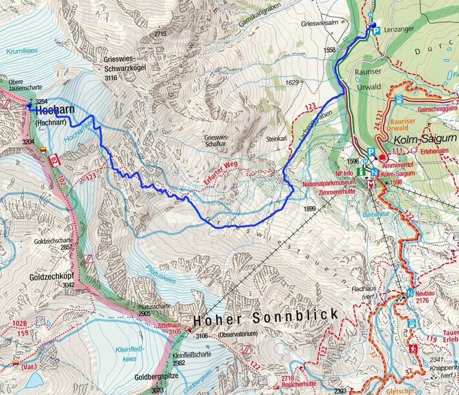 Hocharn (3254m) von Kolm-Saigurn
