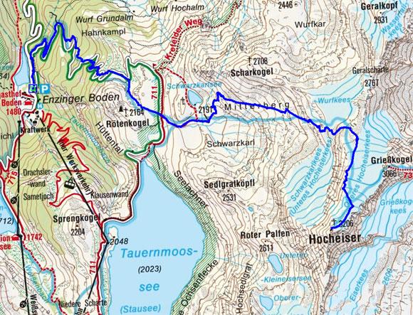Hocheiser (3206 m) vom Enzinger Boden