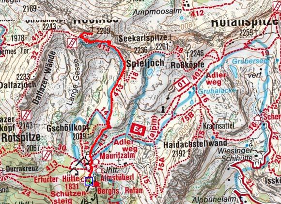 Hochiss (2299 m) von der Erfurter Hütte