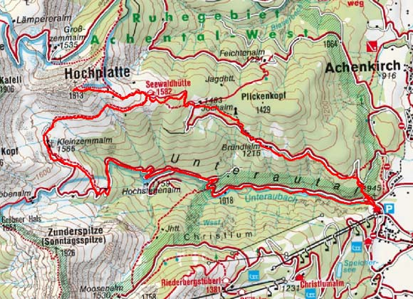 Hochplatte (1813 m) von Achenkirch
