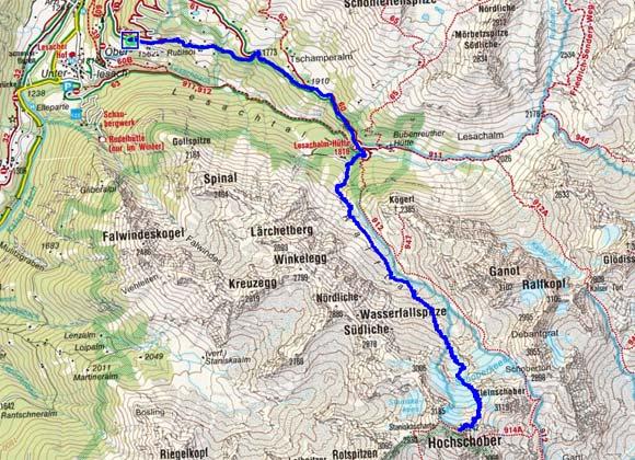 Hochschober (3242 m) von Lesach