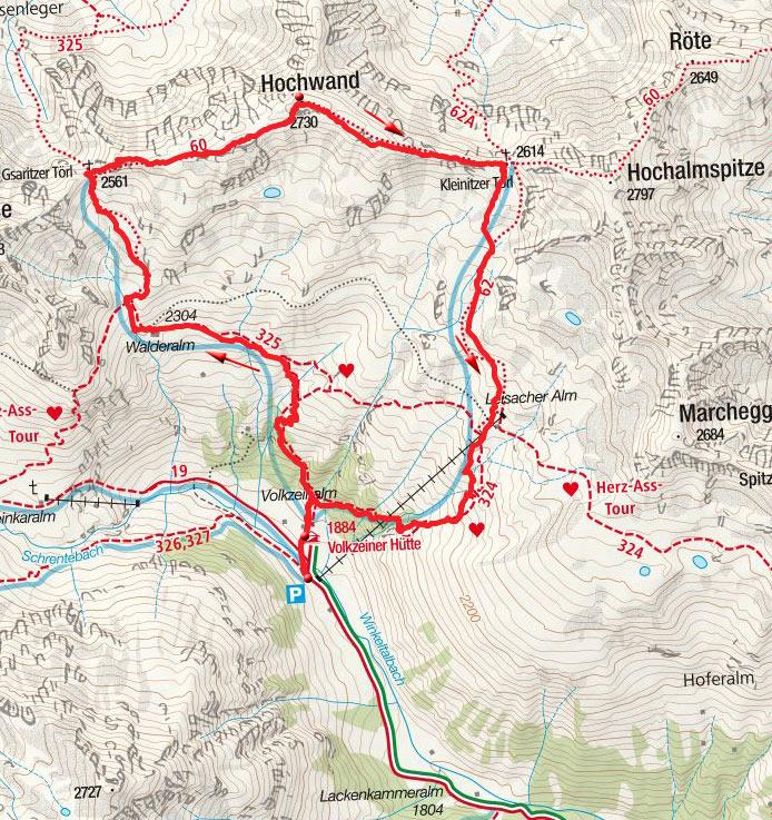 Hochwand (2730m) – Rundtour von der Volkzeiner Hütte