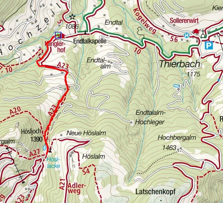 Hösljoch von Thierbach, Wildschönau