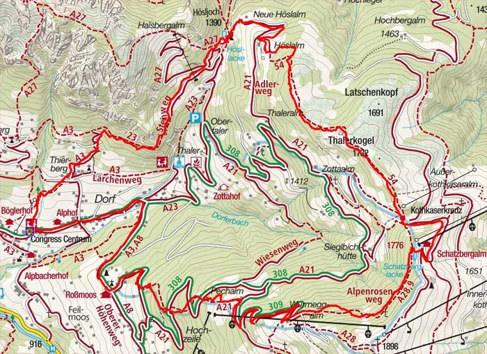 Hösljoch, Thalerkogel im Alpbachtal