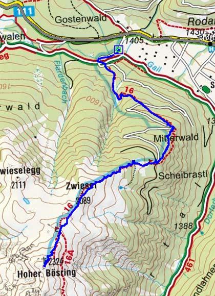 Hoher Bösring (2324 m) von Obertilliach