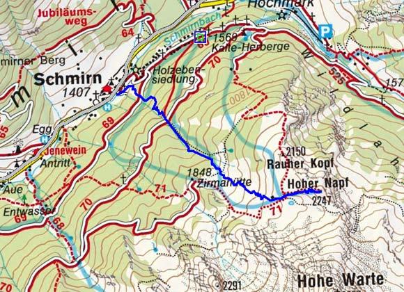 Hoher Napf (2247 m) von Schmirn