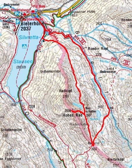 Hohes Rad (2934 m) durch das Bieltal