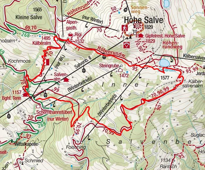 Rundwanderung Salvensee - Rigi - Mittelstation